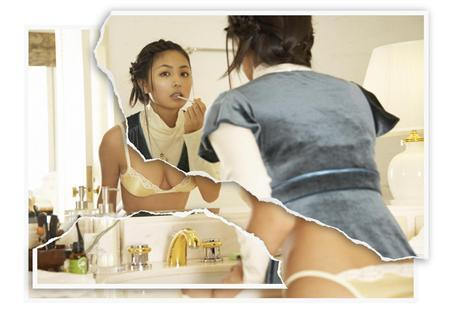 teknik menggabungkan dua gambar dalam satu gambar dengan model wanita ...